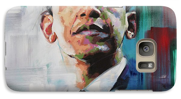 Galaxy Case featuring the painting Obama by Richard Day