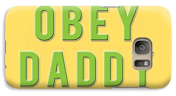 Galaxy Case featuring the mixed media Obey Daddy by TortureLord Art
