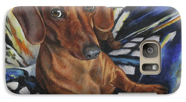 Galaxy Case featuring the painting Obi by Kim Lockman