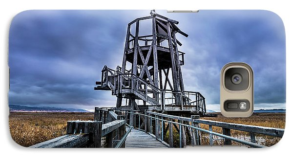 Galaxy Case featuring the photograph Observation Tower - Great Salt Lake Shorelands Preserve by Gary Whitton