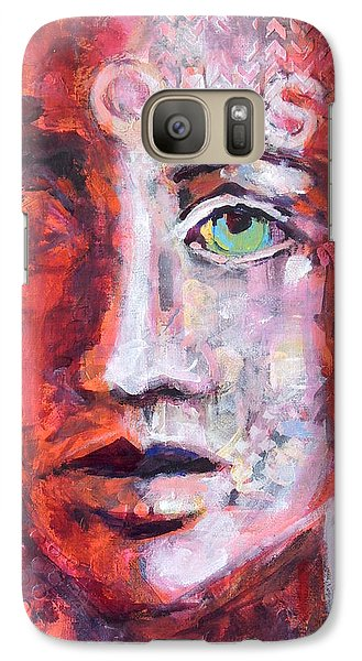 Galaxy Case featuring the painting Observe by Mary Schiros