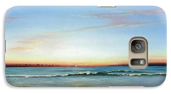 Galaxy Case featuring the painting Obx Sunrise by Albert Puskaric