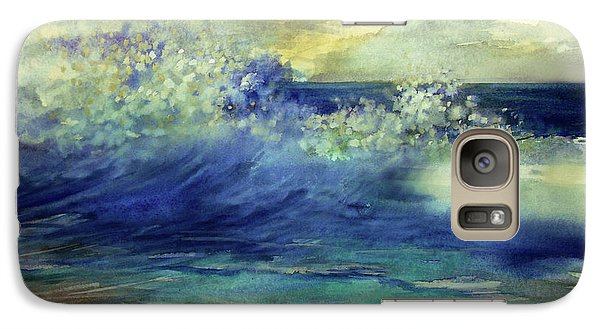 Galaxy Case featuring the painting Ocean by Allison Ashton