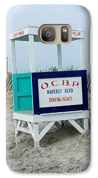 Galaxy Case featuring the photograph Ocean City Beach Scene by Denise Pohl