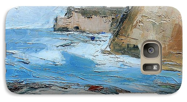 Galaxy Case featuring the painting Ocean Cliffs by Gary Coleman