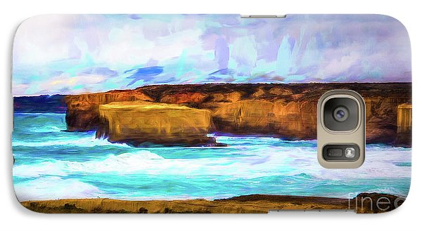 Galaxy Case featuring the photograph Ocean Cliffs by Perry Webster