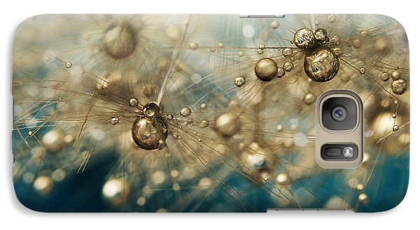Galaxy Case featuring the photograph Ocean Deep Dandy Drops by Sharon Johnstone