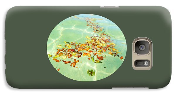 Galaxy Case featuring the photograph Ocean Flowers Oval by Linda Hollis
