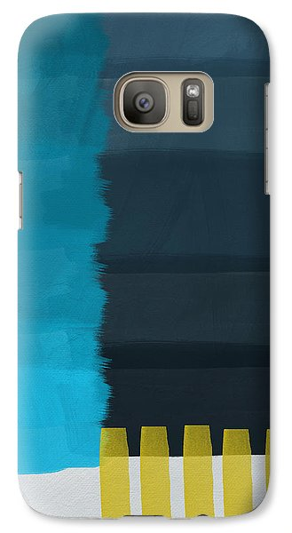 Ocean Front Walk- Art By Linda Woods Galaxy S7 Case by Linda Woods