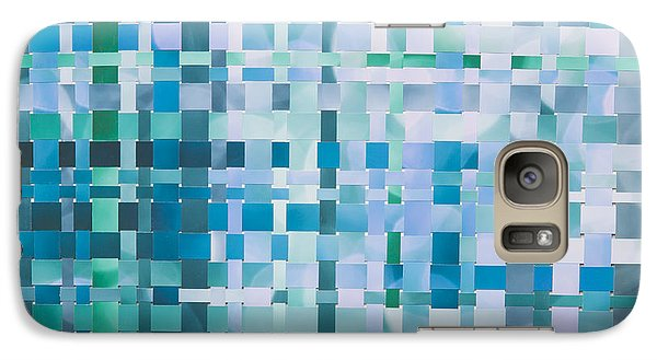 Galaxy Case featuring the mixed media Ocean by Jan Bickerton
