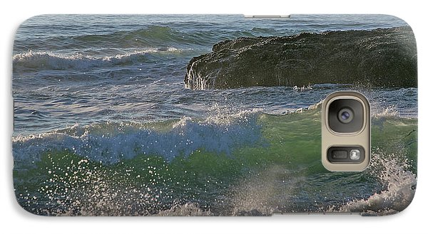 Galaxy Case featuring the photograph Crashing Waves by Elvira Butler