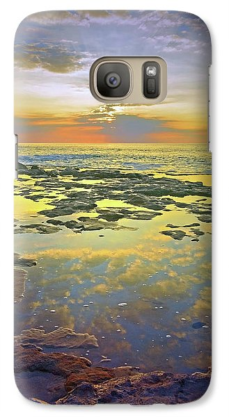 Galaxy Case featuring the photograph Ocean Puddles At Sunset On Molokai by Tara Turner