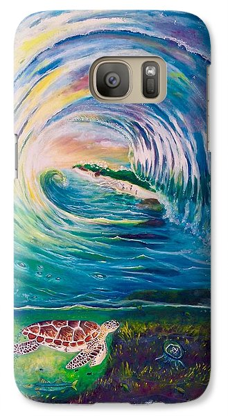 Galaxy Case featuring the painting Ocean Reef Beach by Dawn Harrell