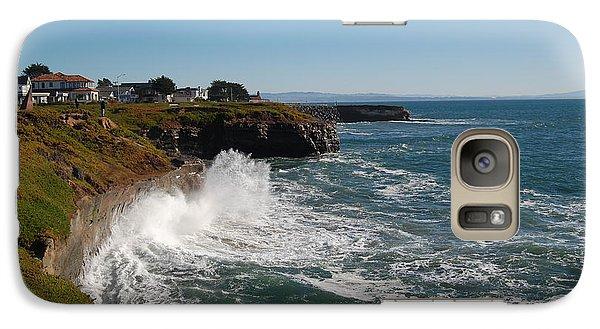 Galaxy Case featuring the photograph Ocean Spray In Santa Cruz by Garnett  Jaeger