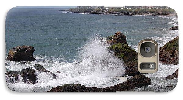 Galaxy Case featuring the photograph Ocean Spray West Cliff by Garnett  Jaeger