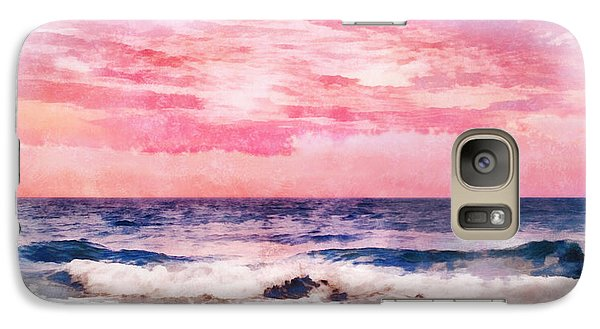 Galaxy Case featuring the digital art Ocean Sunrise by Francesa Miller