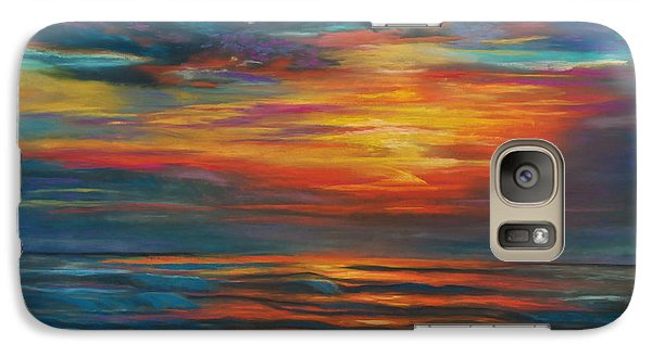 Galaxy Case featuring the pastel Ocean Sunrise by Karen Kennedy Chatham