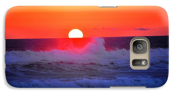 Galaxy Case featuring the photograph Ocean Sunset by Jerry Cahill