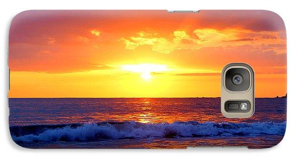 Galaxy Case featuring the photograph Ocean Sunset Manuel Antonio Costa Rica by Irina Hays