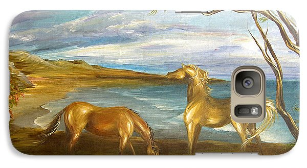 Galaxy Case featuring the painting Ocean View Dining by Dina Dargo