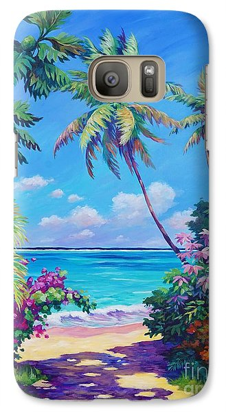 Ocean View With Breadfruit Tree Galaxy S7 Case