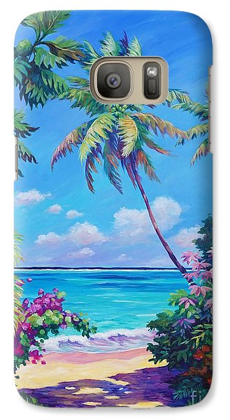 Ocean View With Breadfruit Tree Galaxy Case by John Clark