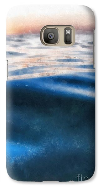 Galaxy Case featuring the painting Ocean Waves by Edward Fielding