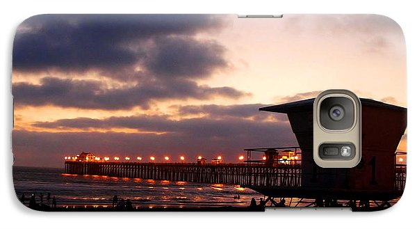 Galaxy Case featuring the photograph Oceanside Pier by Christopher Woods