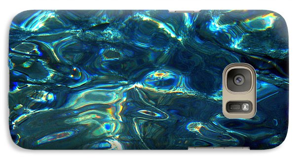 Galaxy Case featuring the photograph Ocean Water Reflections Island Santorini Greece by Colette V Hera  Guggenheim