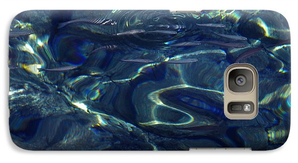 Galaxy Case featuring the photograph Ocean Water Reflections.santorini Island Greece by Colette V Hera  Guggenheim