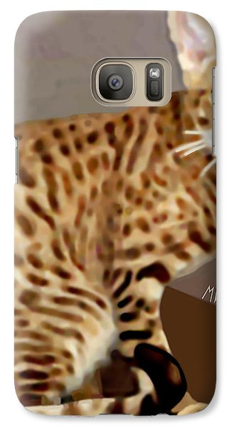 Galaxy Case featuring the painting Ocicat by Marian Cates