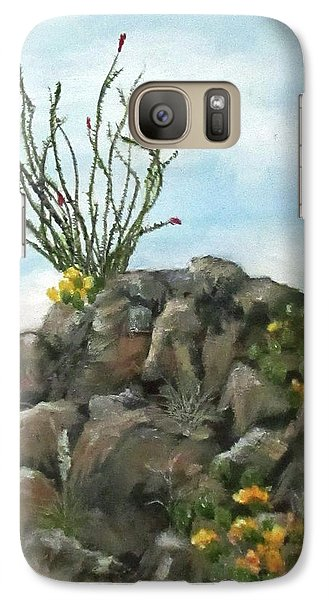 Galaxy Case featuring the painting Ocotillo In Bloom by Roseann Gilmore