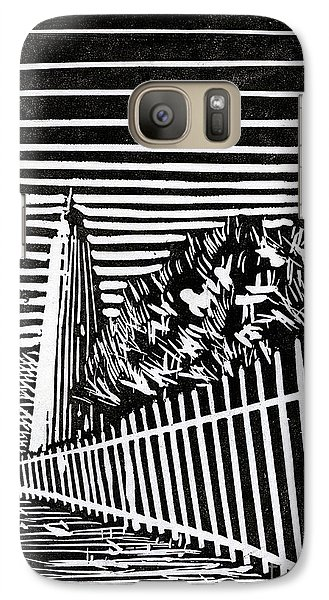 Galaxy Case featuring the painting Ocracoke Island Lighthouse by Ryan Fox