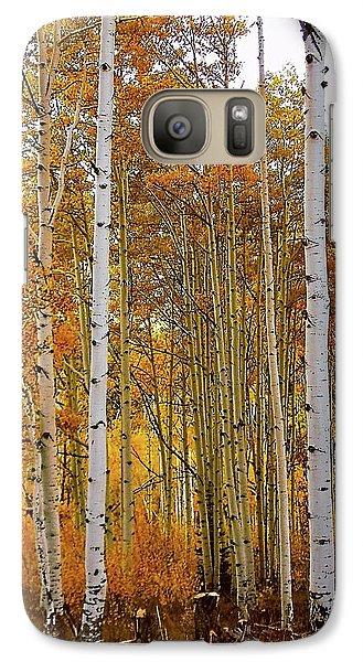 Galaxy Case featuring the photograph October Aspen Grove  by Deborah Moen