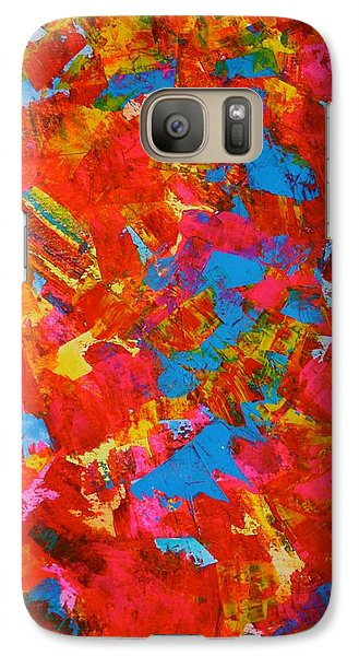 Galaxy Case featuring the painting October Canopy Overhead by Polly Castor