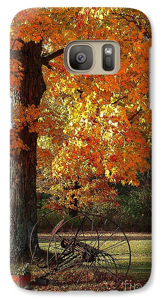 Galaxy Case featuring the drawing October Day by Diane E Berry