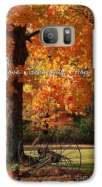 Galaxy Case featuring the photograph October Day Love Generosity Hope by Diane E Berry