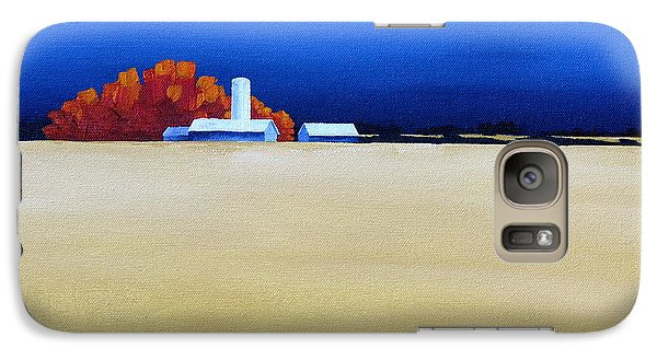 Galaxy Case featuring the painting October Fields by Jo Appleby