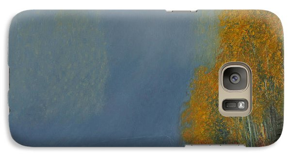 Galaxy Case featuring the painting October On The River by Stanza Widen