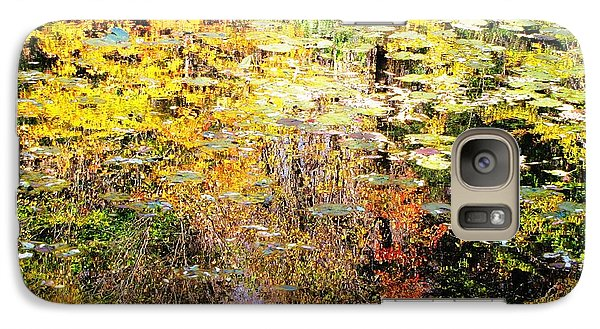 Galaxy Case featuring the photograph October Pond by Melissa Stoudt