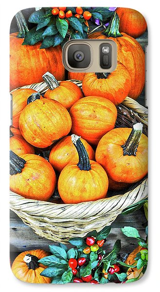 Galaxy Case featuring the photograph October Pumpkins by Joan Reese