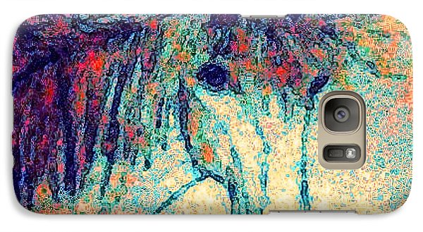 Galaxy Case featuring the painting October Spectra by Holly Martinson