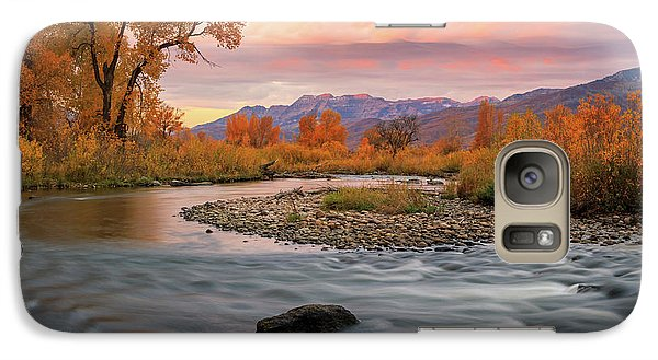 Galaxy Case featuring the photograph October Sunrise At The Provo River. by Johnny Adolphson