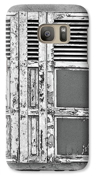 Galaxy Case featuring the photograph Odd Pair - Shutters by Nikolyn McDonald