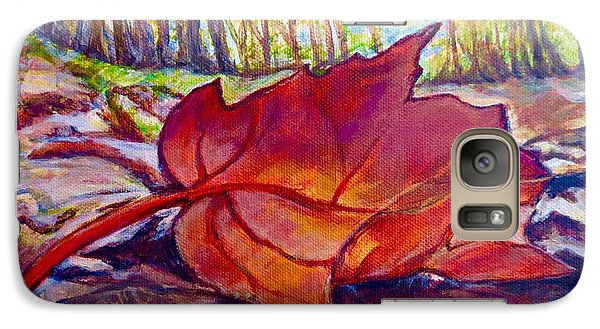 Galaxy Case featuring the painting Ode To A Fallen Leaf Painting by Kimberlee Baxter