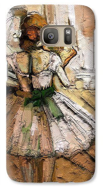 Galaxy Case featuring the painting Ode To Degas by Carrie Joy Byrnes