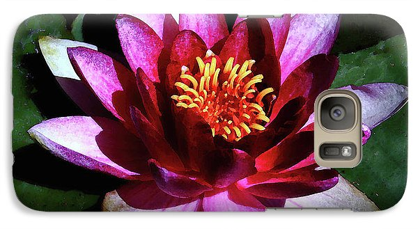 Galaxy Case featuring the photograph Ode To The Water Lily by Polly Peacock