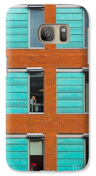 Galaxy Case featuring the photograph Office Windows by Colin Rayner
