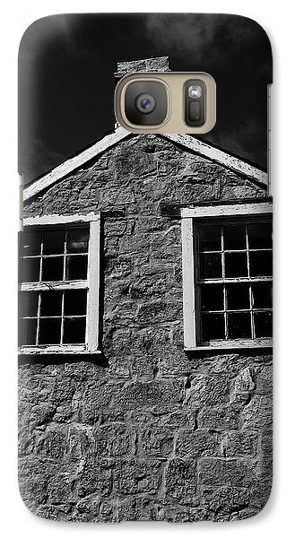 Galaxy Case featuring the photograph Officers Quarters, Monochrome by Travis Burgess