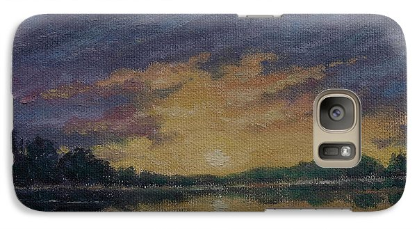 Galaxy Case featuring the painting Offshore Sunset Sketch by Kathleen McDermott